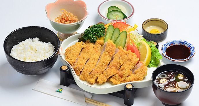 APPI KOGEN TAKUMI PRIME PORK PORK CUTLET SET WITH JAPANESE PICLES, SIDE DISH AND MISO SOUP